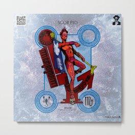 "Ars Tarot of the 12 Zodiac: ""Scorpio - Death"" Metal Print"