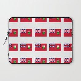 Flag of ontario -ontarian,ontarien,toronto,ottawa,heartland,huron,hamilton. Laptop Sleeve
