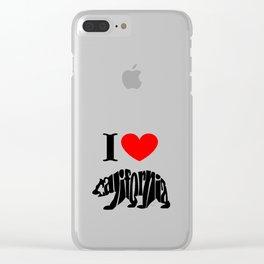 I love California Clear iPhone Case