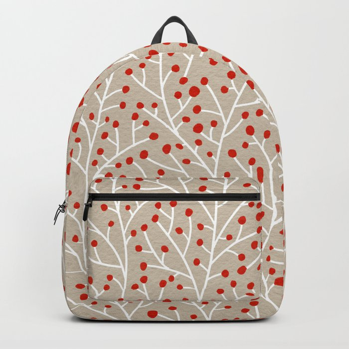 Red & White Berry Branches Backpack