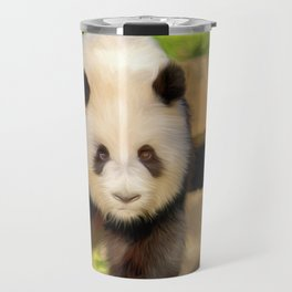 Giant Panda (digital painting) Travel Mug