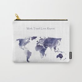 Work. Travel. Love. Repeat Carry-All Pouch