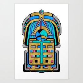 Scarabesque - Digital Art Deco Design Art Print