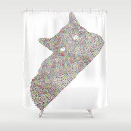 Composite Cat Shower Curtain
