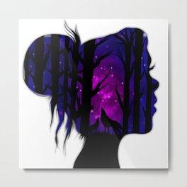 Behind Her Eyes Metal Print