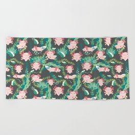Baby Axolotl Beach Towel