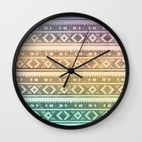 navajo Wall Clocks featuring Navajo by Sarah Slegh