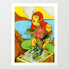 Odd Showdown At Texcoyo Gulf Art Print