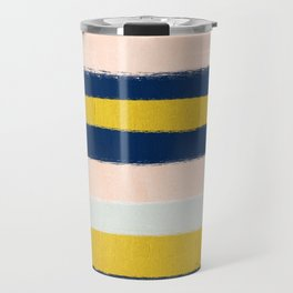 Stripes minimal trendy color palette gold silver metallic minimal home decor Travel Mug