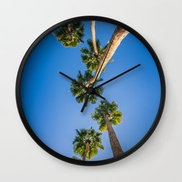 Upside Down LA Palms Wall Clock