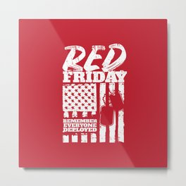 Red Friday American Military Metal Print
