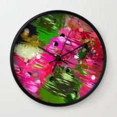 Summer Garden Abstract Wall Clock