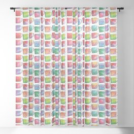 Coffee Mugs - Rainbow Colors Sheer Curtain