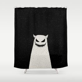 Evil Monster Shower Curtain