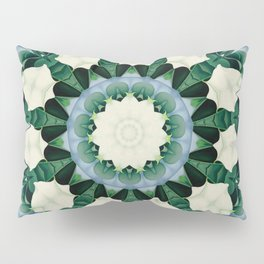 Sacramento Green and Cerulean Blue Mandala Pillow Sham