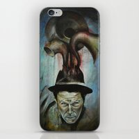 tom waits iPhone & iPod Skins featuring Tom Waits by Victoria Lavorini