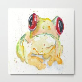 Springy Froggy Metal Print