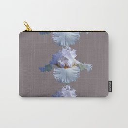 SNOW WHITE SPRING IRIS  GREY MONTAGE Carry-All Pouch