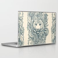 suits Laptop & iPad Skins featuring Tiger Tangle by micklyn