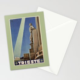 Trieste art deco Italian travel ad Stationery Cards