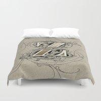 dragonball z Duvet Covers featuring monogram z by Art Lahr