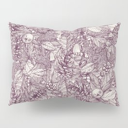 forest floor berry ivory Pillow Sham
