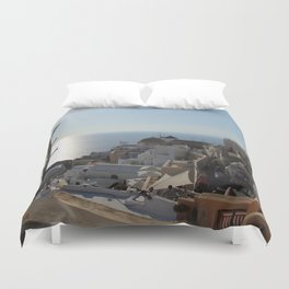 The Village of Oia Duvet Cover