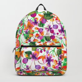 Floral Collage Backpack