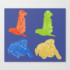 Warhol Dogs Canvas Print