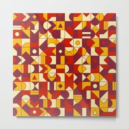 Geometric Pattern N03 Metal Print