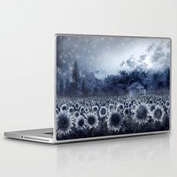 sunflowers Laptop & iPad Skins featuring sunflowers by Bekim ART