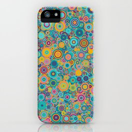 Psychedelic funky Seventies disco party iPhone Case
