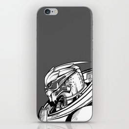 Garrus - B&W profile iPhone Skin