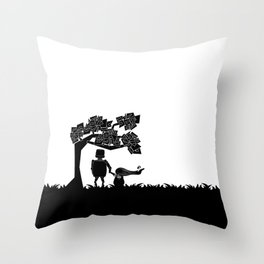 The child and the robot Throw Pillow