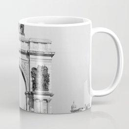 Grand Army Plaza - Brooklyn, New York City Black and White Photograph Coffee Mug