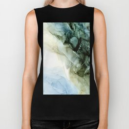 Land and Sky Abstract Landscape Painting Biker Tank