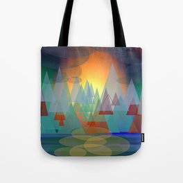 Alpine Sunset Tote Bag