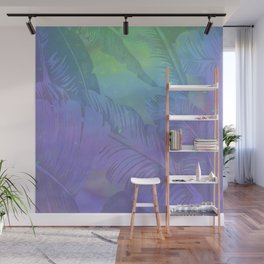 Rainbow in Palms Wall Mural