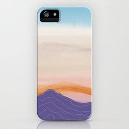 Mixed Media Sunset iPhone Case