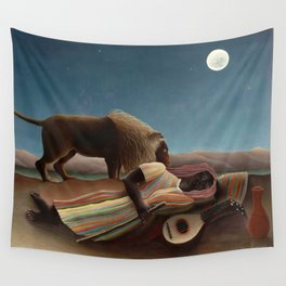 Henri Rousseau - The Sleeping Gypsy Wall Tapestry