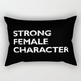 Strong Female Character Rectangular Pillow