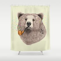 sailor Shower Curtains featuring Sailor Bear by dogooder