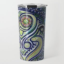 Inner Light / Psychedelic Owl Travel Mug