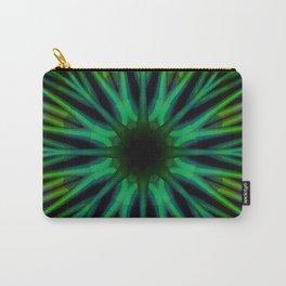 Green Diamond Lattice Carry-All Pouch