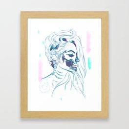 Candy Skull Mermaid Framed Art Print