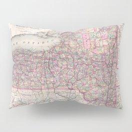 Vintage New York State Railroad Map (1876) Pillow Sham