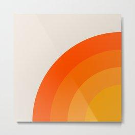 Sunrise Rainbow - Left Side Metal Print