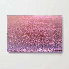 Metallic Ocean With Iridescent Wave Metal Print