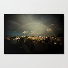 Rainbow in Amsterdam Canvas Print
