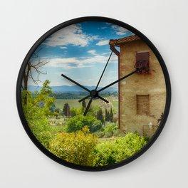 Tuscany, Italy Wall Clock